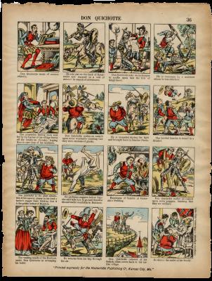 Images d'Epinal sur Don Quichotte