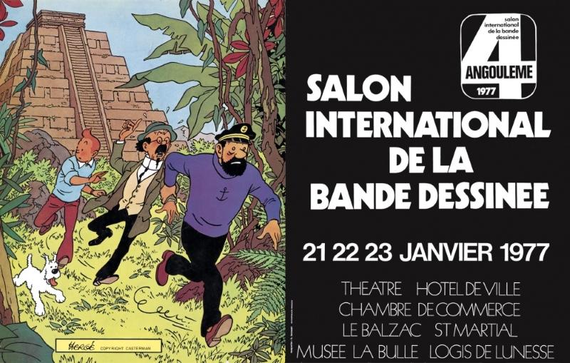 Affiche de 1977 dessinée par Hergé