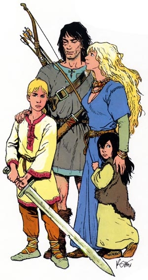 Thorgal et sa famille