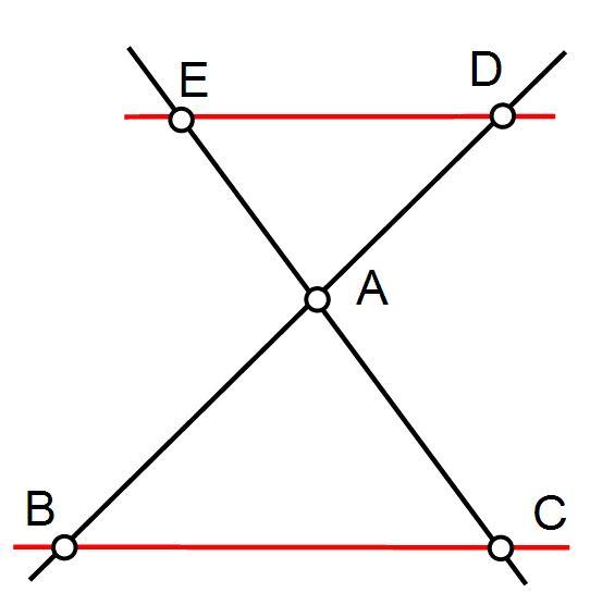 Théorème de Thalès avec triangle en papillon