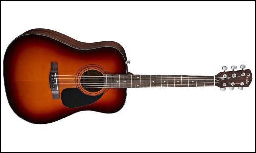 La guitare Folk parfaite pour les accords