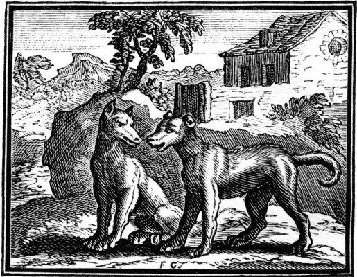 Fable de la Fontaine - Le Chien et le Loups