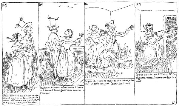 Une des premières planche de BD de Rodolphe Töpffer