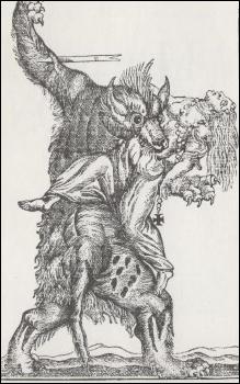 Un loup garou attaquant une femme