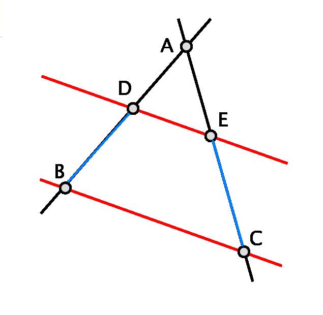 Théorème de Thalès avec un triangle