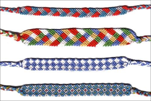 Quelques exemples de bracelets brésiliens