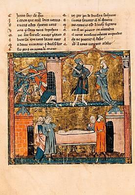 Enliminure d'Yvain ou le Chevalier au Lion de Chrétien de Troyes (BNF)