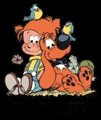 Les deux amis inséparables Boule et son chien Bill