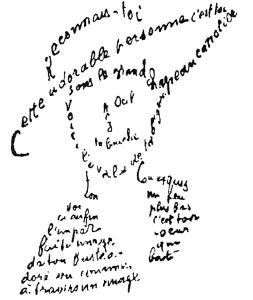 Calligramme de Guillaume Apollinaire Reconnais-toi